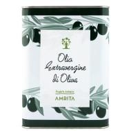 Olio extravergine di oliva in latta Amrita 3L