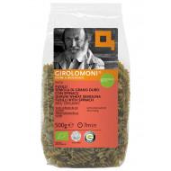 Fusilli di semola di grano duro con spinaci