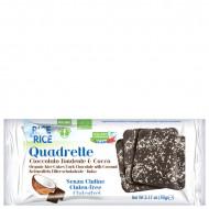 Quadrette con cioccolato fondente e cocco Rice & Rice