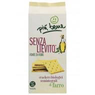 Crackers semintegrale di farro senza lievito salati
