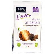 Frollini al cacao con gocce di cioccolato LiveBio