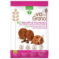 Biscotti con cacao e gocce di cioccolato La Via del Grano