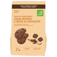 Frollini semintegrali al cacao con gocce di cioccolato